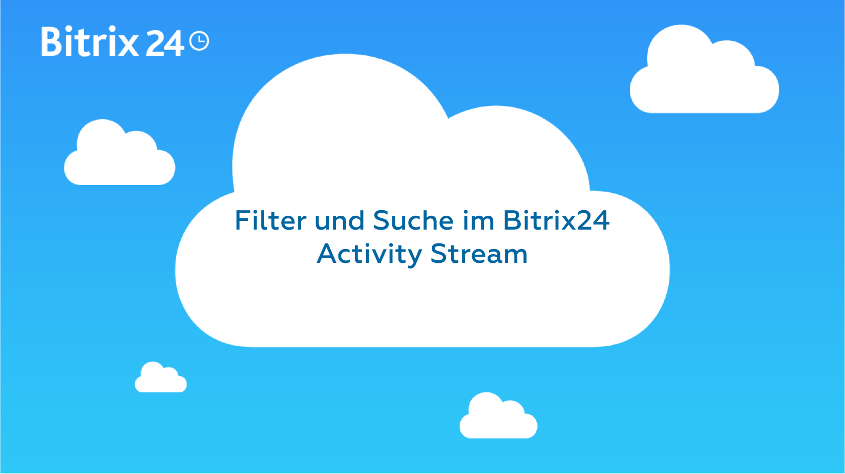 Filter- und Suchoption im Bitrix24 Activity Stream