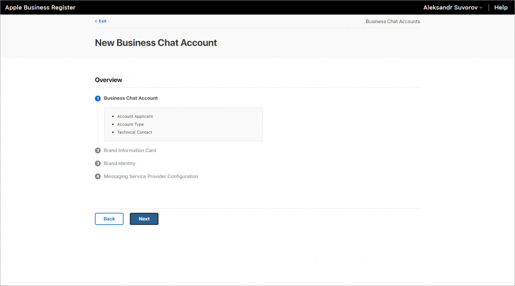 Business Chat Account